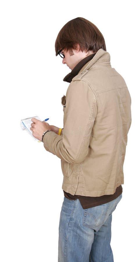 buck notepad dziennikarz zdjęcie stock
