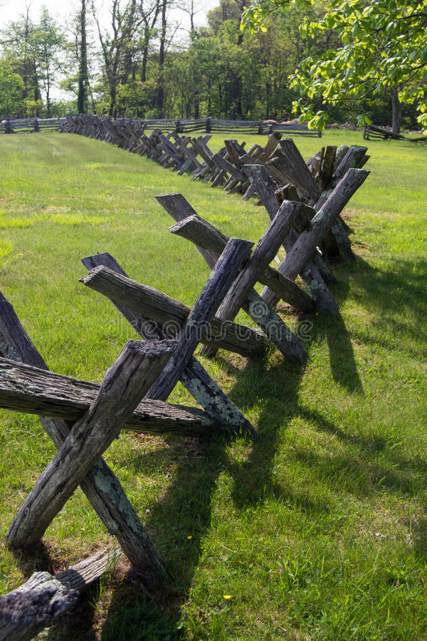 Buck Rail staketblått Ridge Parkway, Virginia, USA arkivbilder