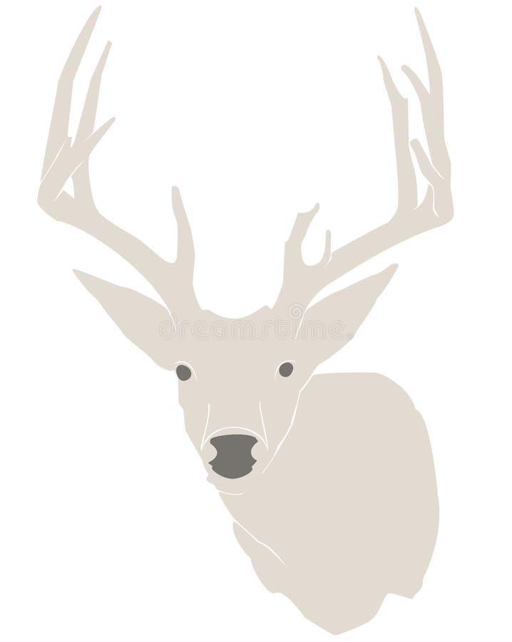 Buck silhouette stock photo