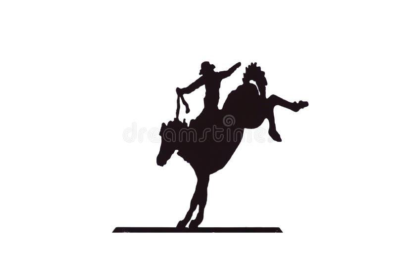 Buckaroos - cowboy sul cavallo selvaggio bucking fotografia stock