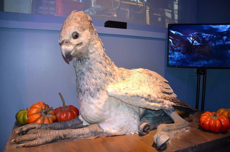 Buckbeak van Harry Potter, Warner Bros-studio royalty-vrije stock afbeeldingen