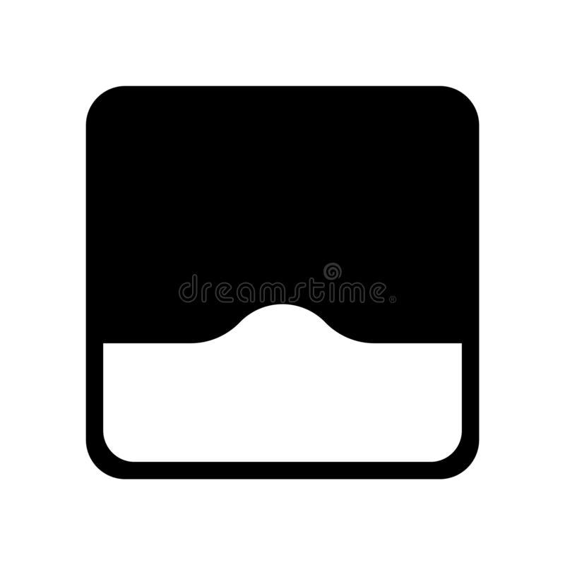 Buckelikonenvektor lokalisiert auf weißem Hintergrund, Buckelzeichen stock abbildung