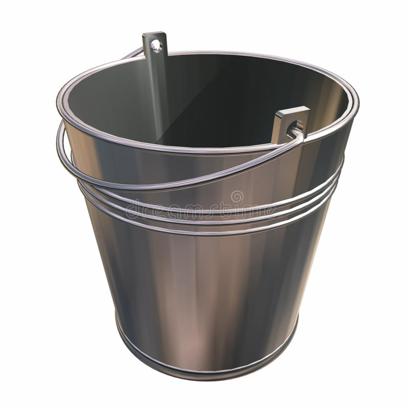 Download Bucket stock illustration. Image of water, handle, bright - 14353411