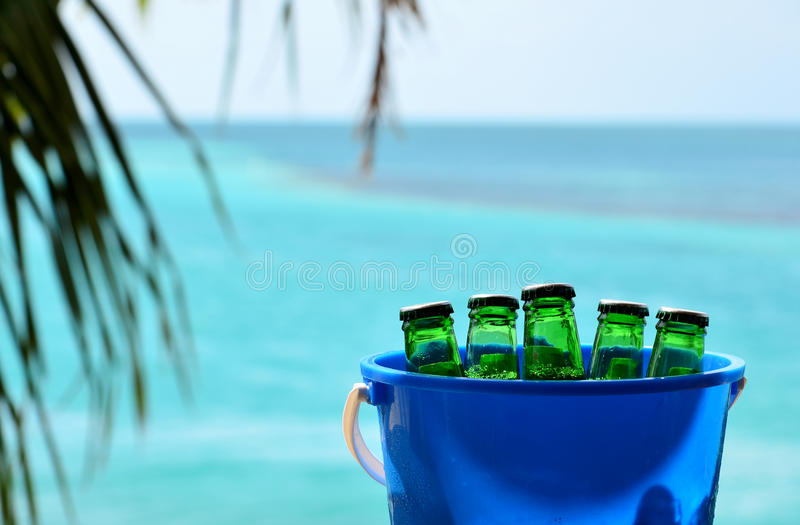 Bucket of Beer stock photos