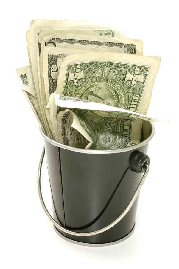 Download Bucket of Cash stock photo. Image of savings, dollar, payment - 1386274