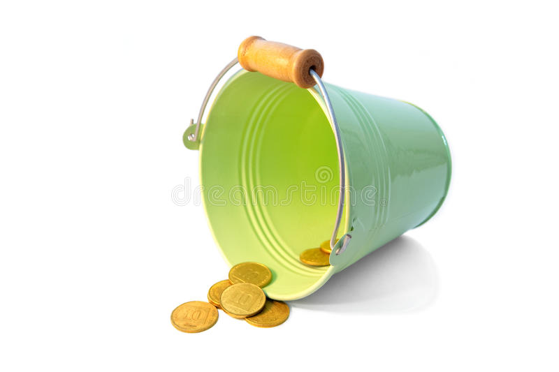 Download Bucket coins stock image. Image of rich, fine, crisis - 25160791