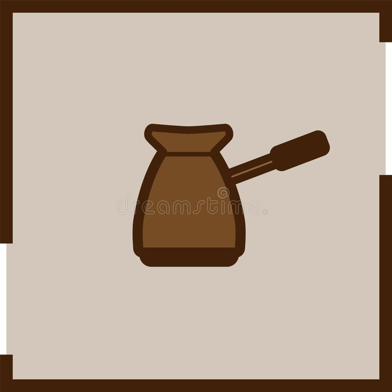 Colored coffee icon in square frame. royalty free illustration