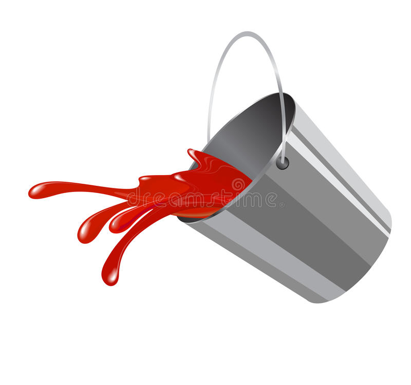 Bucket com pintura ilustração royalty free