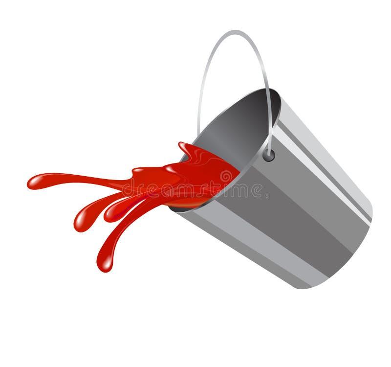 Bucket con vernice royalty illustrazione gratis