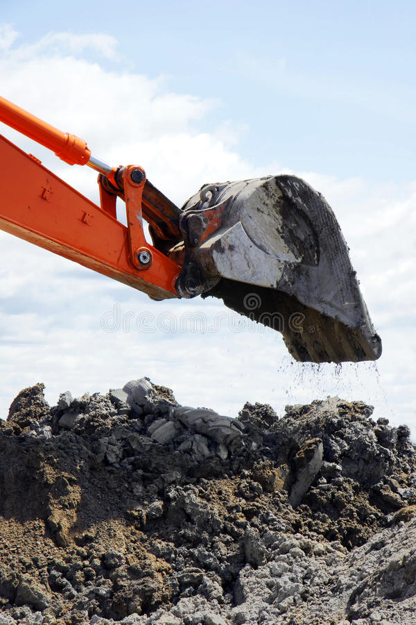 Download Bucket Dropping Clay And Dirt Stock Image - Image: 19981475
