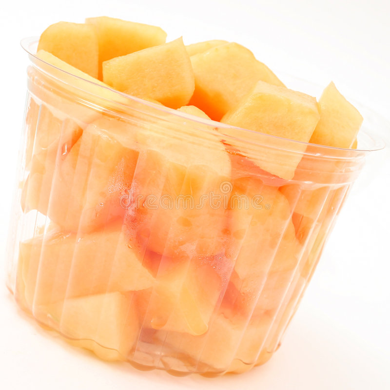 Bucket of Fresh Fruit Over White royalty free stock photography