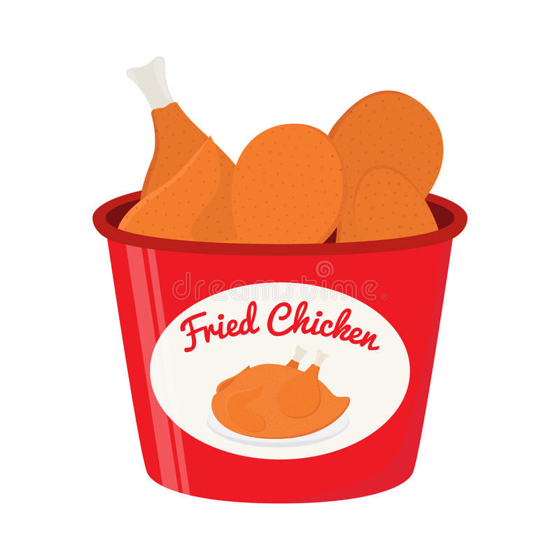 bucket of fried chicken  tasty fast food cartoon flat chicken leg quarters clipart fried chicken leg clipart