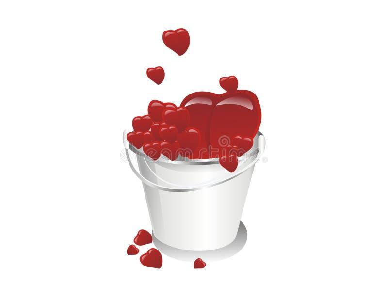A bucket full of love stock photo