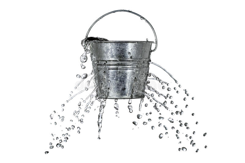 Bucket with holes royalty free stock image