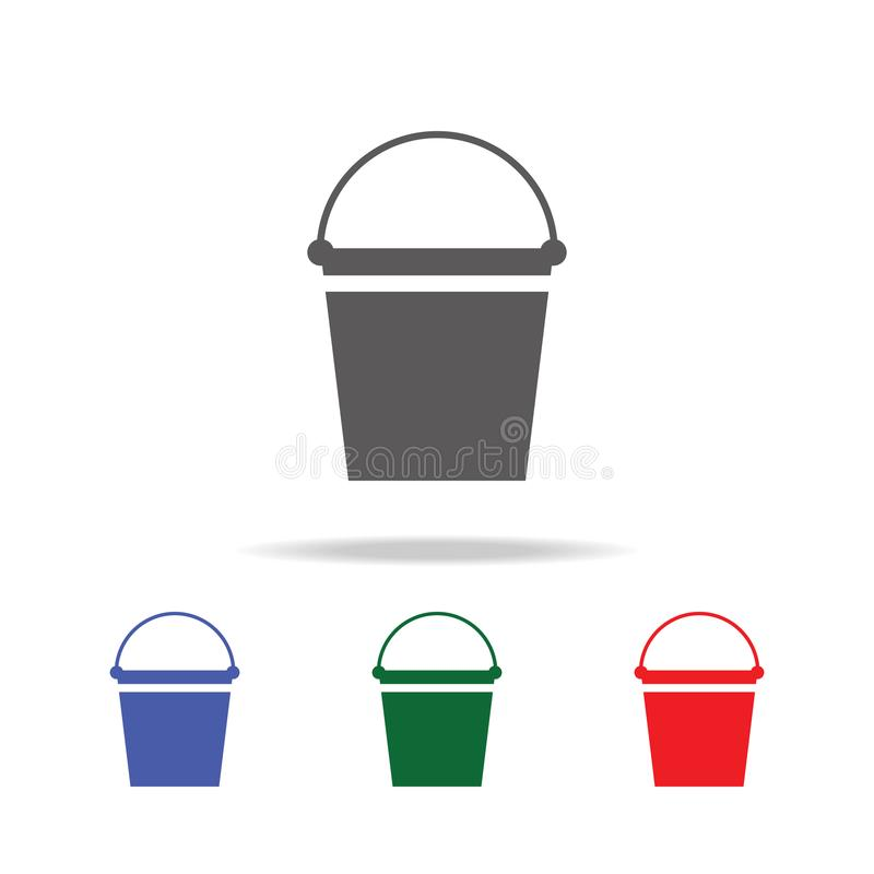 Bucket icon. Elements of construction tools multi colored icons. Premium quality graphic design icon. Simple icon for websites, we. B design, mobile app, info stock photos