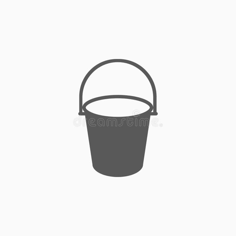 Bucket icon, tank, bucket, bin, barrel, keg, cask royalty free illustration