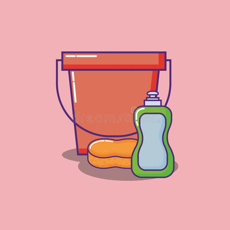 Liquid And Solid Soap Logo Template:  Soap Bottle Isolated Icon Stock Vector. Illustration Of