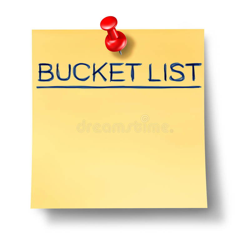 Download Bucket List Text Written On A Yellow Office Note Stock Illustration - Image: 18266029