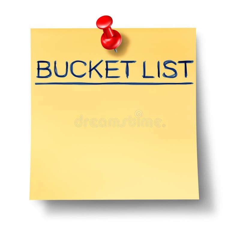 Download Bucket List Text Written On A Yellow Office Note Stock Illustration - Illustration of list, goals: 18266029