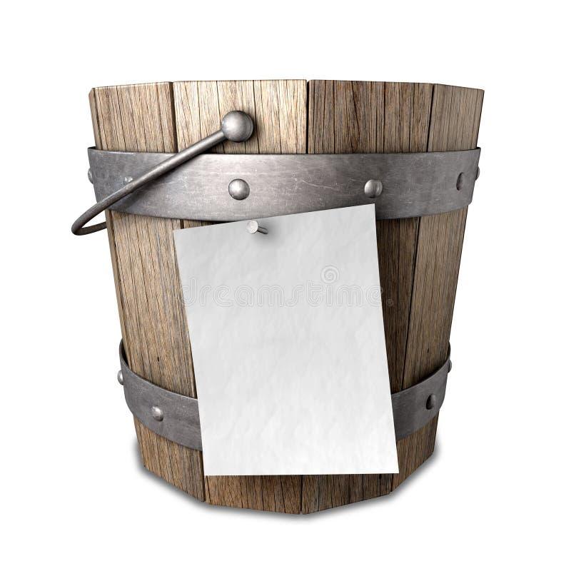 Bucket List royalty free illustration