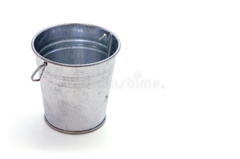 Bucket of Nothing Clipping Path royalty free stock image