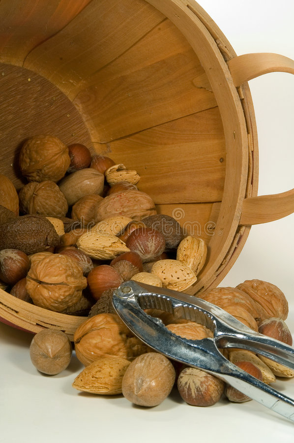 Download Bucket of Nuts stock photo. Image of beneficial, health - 1721864