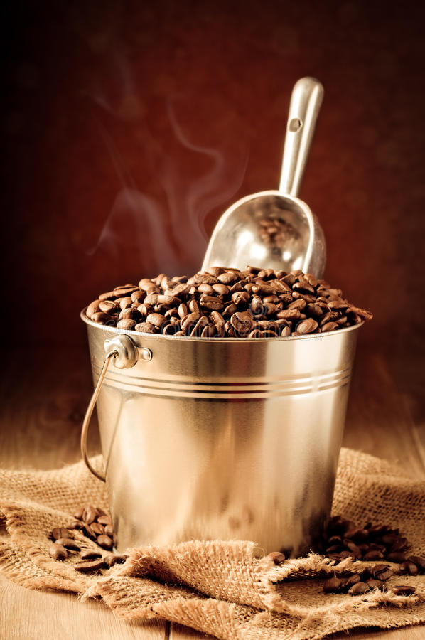 Free Bucket Of Coffee Beans Royalty Free Stock Photo - 23599545