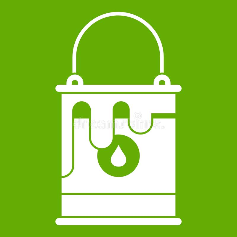 Bucket with paint icon green royalty free illustration