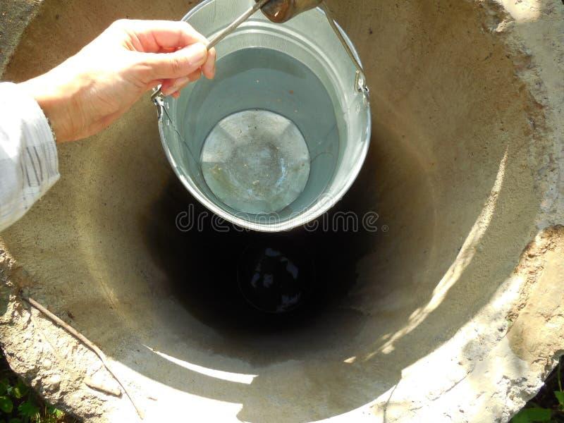 Bucket of water stock photos