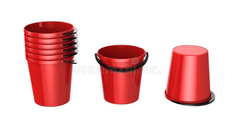 Download Buckets stock illustration. Image of shadow, basket, single - 18763314