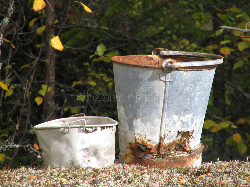 Buckets royalty free stock images