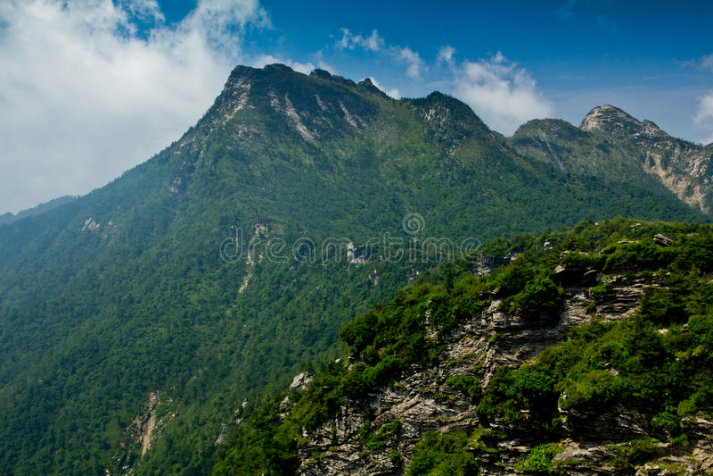 The Buckhorn Ridge of Qinling Mountain royalty free stock photo