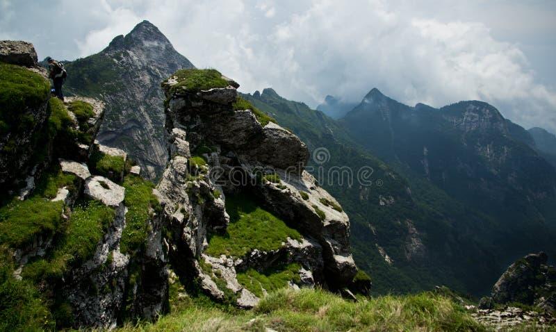 The Buckhorn Ridge of Qinling Mountain stock image