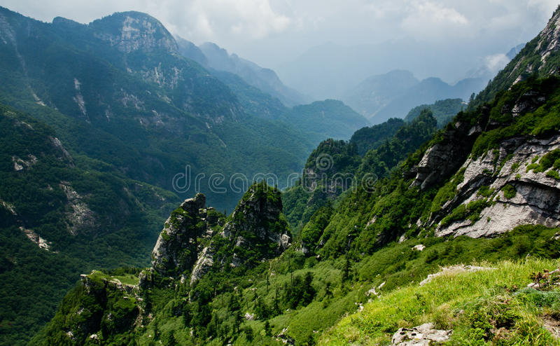 The Buckhorn Ridge of Qinling Mountain stock photography