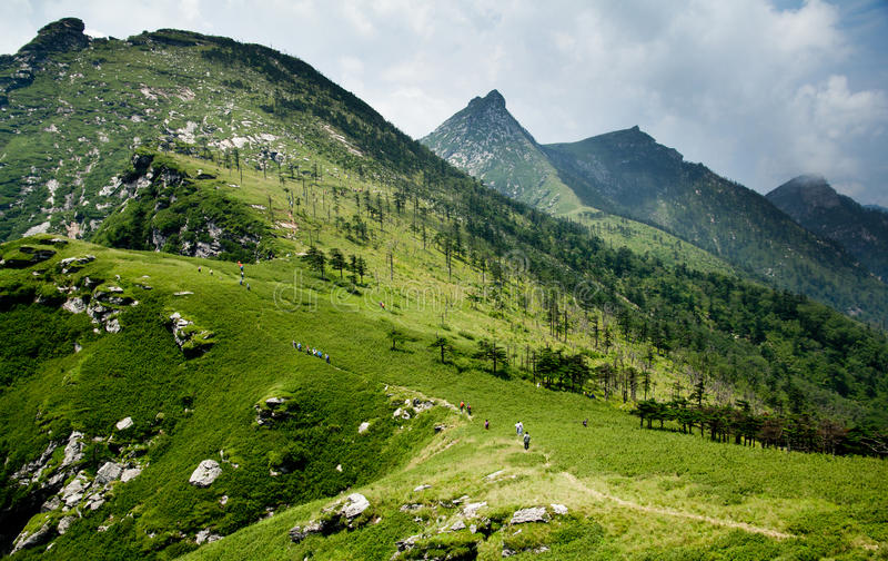 The Buckhorn Ridge of Qinling Mountain stock images
