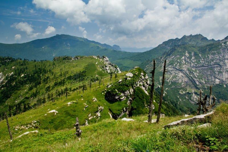 The Buckhorn Ridge of Qinling Mountain royalty free stock image