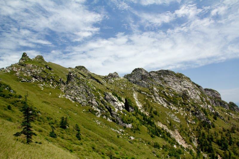 The Buckhorn Ridge of Qinling Mountain stock photos