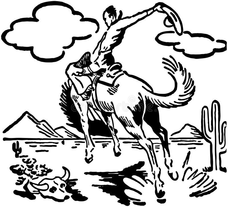 Bucking мустанг 2 иллюстрация вектора
