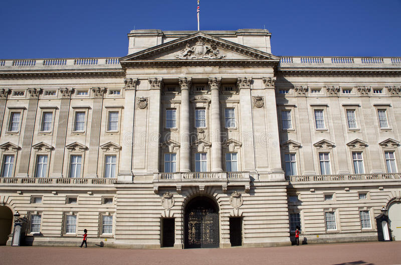 buckingham伦敦宫殿 库存照片