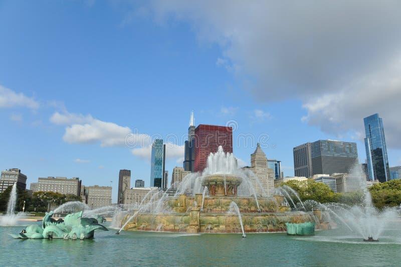 buckingham芝加哥喷泉 库存图片