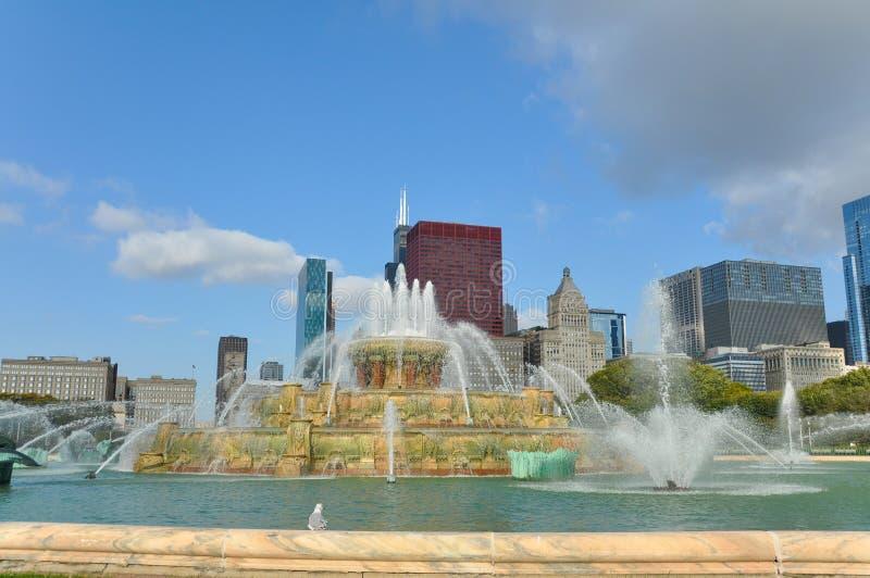 buckingham芝加哥喷泉 图库摄影