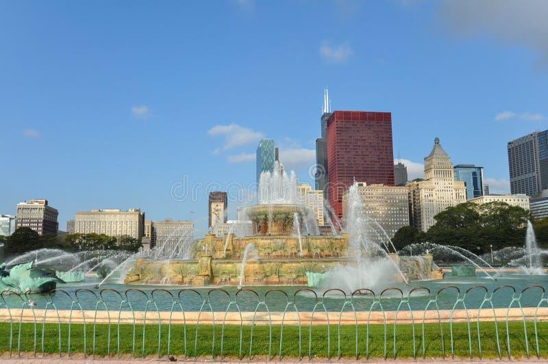 buckingham芝加哥喷泉 免版税库存照片