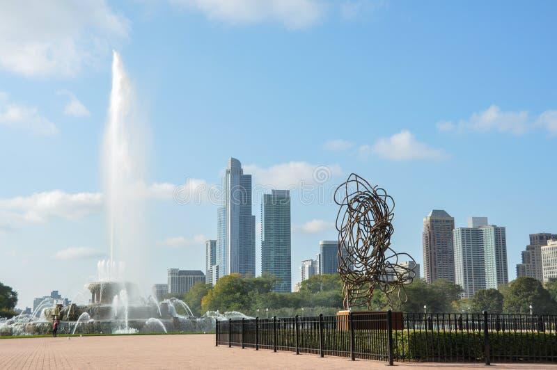 buckingham芝加哥喷泉 免版税库存图片