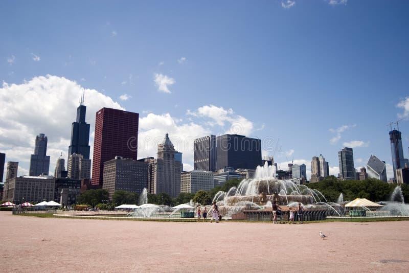buckingham芝加哥喷泉s 库存图片