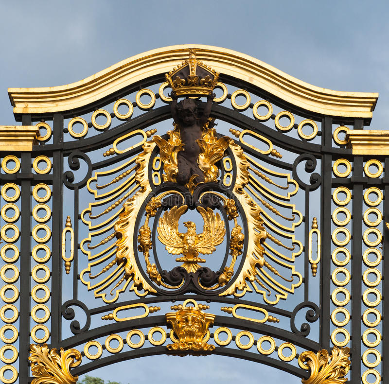 buckingham门伦敦宫殿 库存照片