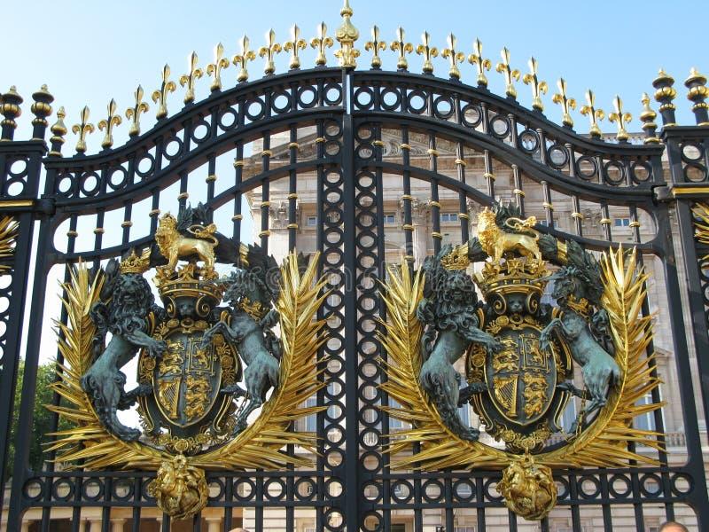 buckingham门伦敦宫殿 库存图片