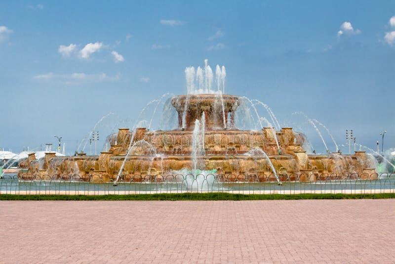 buckingham Chicago fontanny dotaci park zdjęcia royalty free