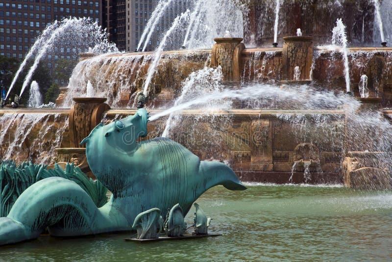 buckingham fontanna obrazy royalty free