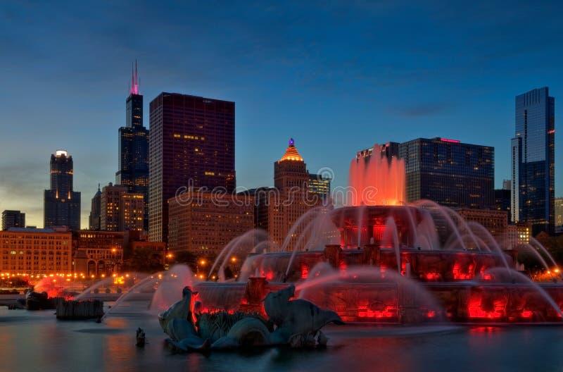 Buckingham Fountain. Image of Buckingham Fountain in Grant Park, Chicago, Illinois stock photography