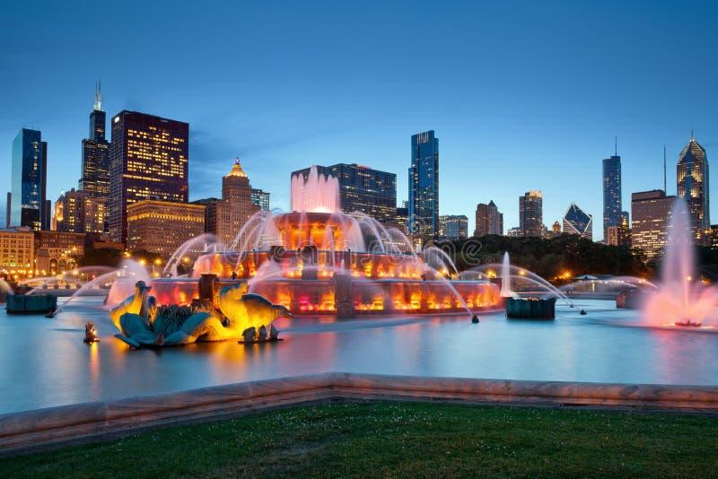 Buckingham Fountain. Image of Buckingham Fountain in Grant Park, Chicago, Illinois, USA royalty free stock image